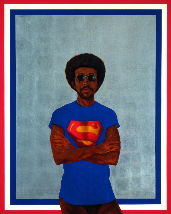 Icon For My Man Superman (Superman Never Saved Any Black People-Bobby Seale) (1969) by Barkley Hendricks © Barkley K. Hendricks. Courtesy of the artist and Jack Shainman Gallery, New York