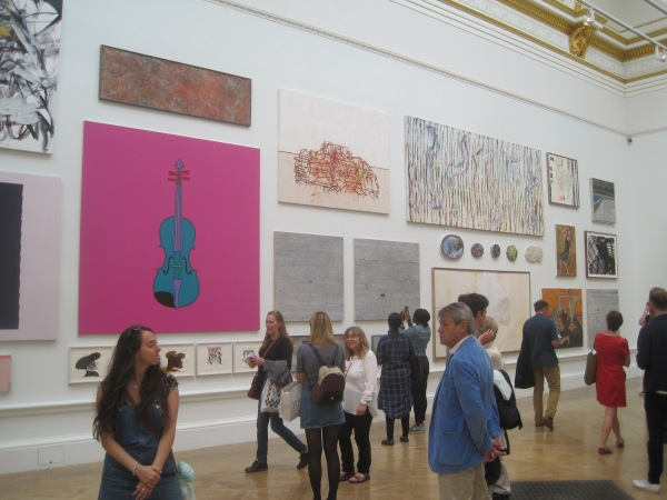 View of Room II featuring Untitled (Violin) by Michael Craig-Martin