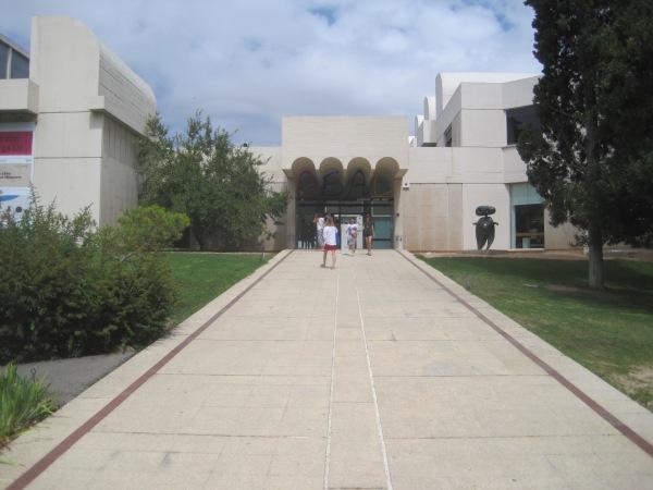 Exterior of the Fundació Joan Miró