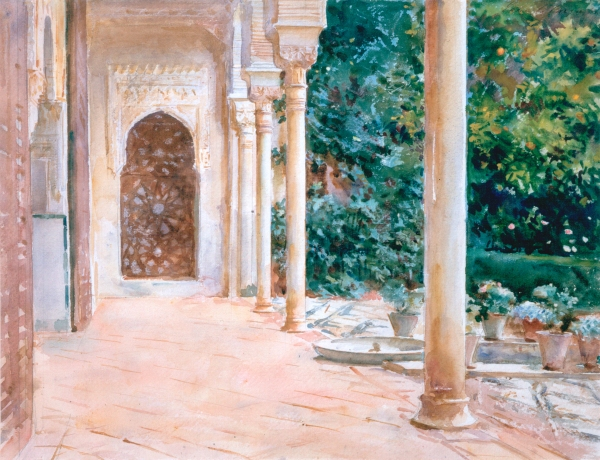 Loggia, View at the Generalife (c. 1912) by John Singer Sargent. Aberdeen Art Gallery & Museums Collections