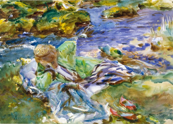 A Turkish Woman by a Stream (c. 1907) by John Singer Sargent © Victoria and Albert Museum, London