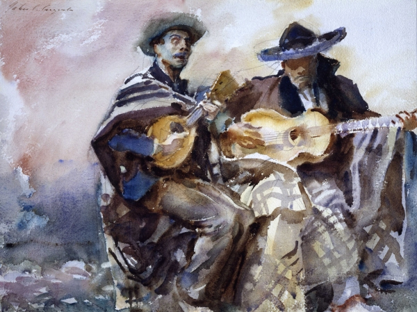 Blind Musicians (1912) by John Singer Sargent. Aberdeen Art Gallery & Museums Collections