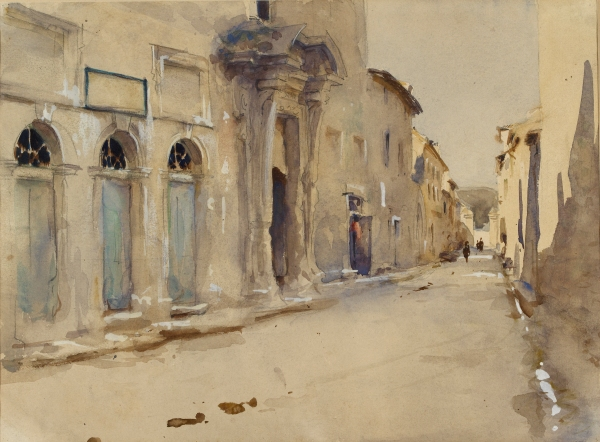 A Street in Spain (c. 1880) by John Singer Sargent © Ashmolean Museum, University of Oxford