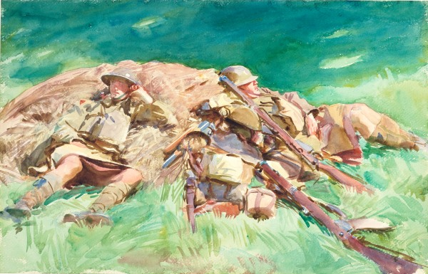 Highlanders Resting at the Front (1918) by John Singer Sargent © Fitzwilliam Museum, Cambridge