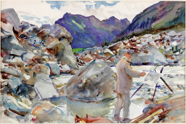 A Glacier Stream in the Alps (c. 1909-11) by John Singer Sargent. Laing Art Gallery, Newcastle-upon-Tyne/Bridgeman Images