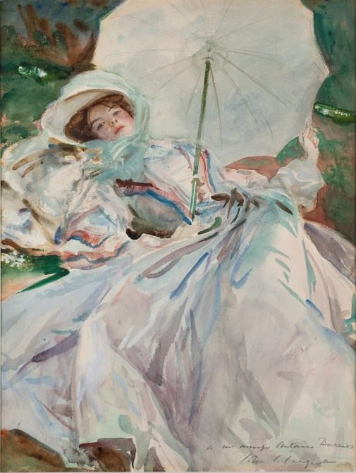 The Lady with the Umbrella (1911) by John Singer Sargent. Museu de Montserrat. Image © Dani Rovira