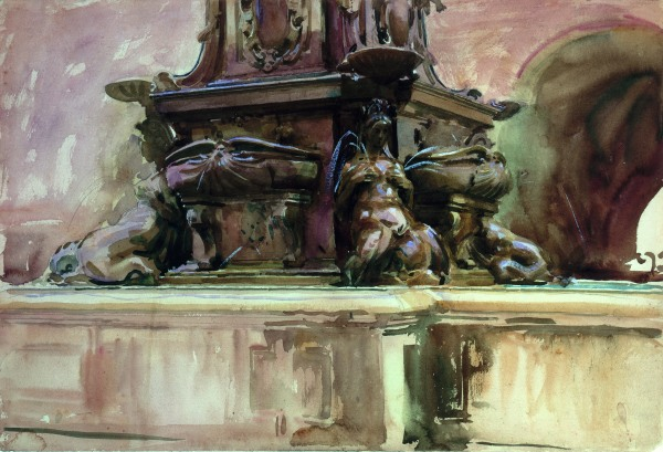 The Fountain, Bologna (c. 1906) by John Singer Sargent. Private Collection
