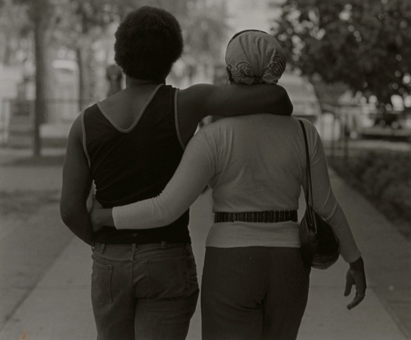 Couple Walking by Roy DeCarava © Courtesy Sherry DeCarava and the DeCarava Archives