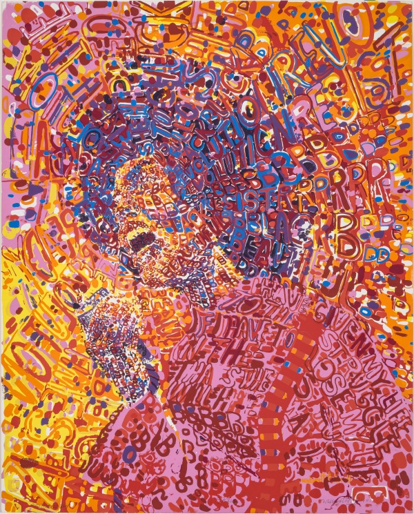 Revolutionary (1972) by Wadsworth Jarrell. Courtesy Lusenhop Fine Art © Wadsworth Jarrell