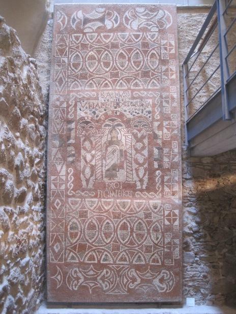 Restored Roman mosaic, Museo Municipal de Tossa de Mar