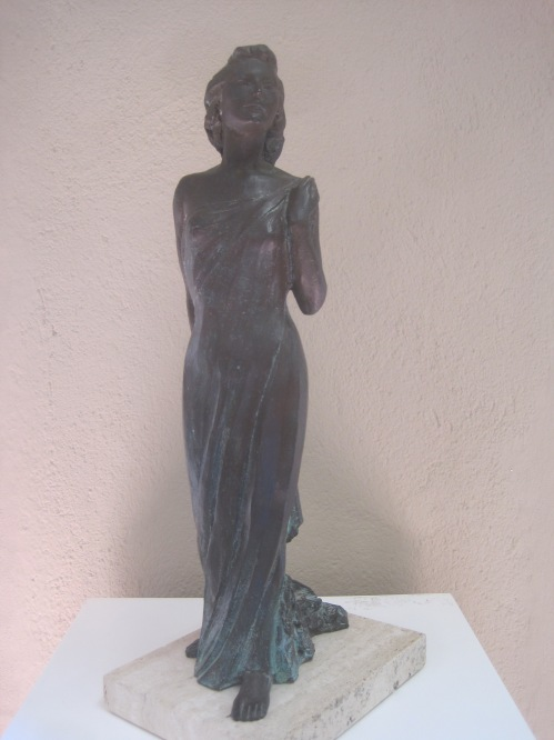 Bronze statuette of Ava Gardner (1992) by Cio Abelli