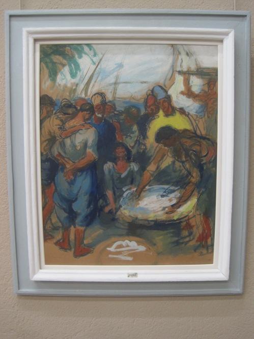 Fish market (1911) by Ricard Lambi