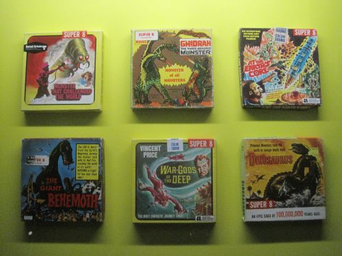 A selection of super 8 sci-fi box covers