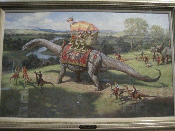 Dinosaur Parade from the Dinotopia series by James Gurney (1989)