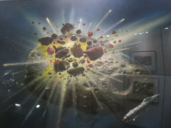 Asteroid Collision by Chris Foss (1980)