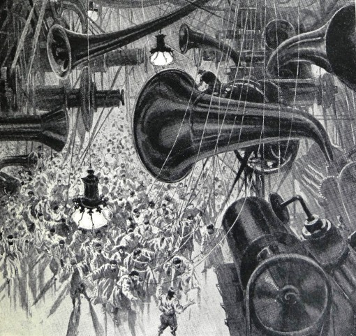 Illustration by H. Lanos to When the Sleeper Awakes by H.G. Wells which Orwell uses at length in his discussion of the mechanisation of modern society