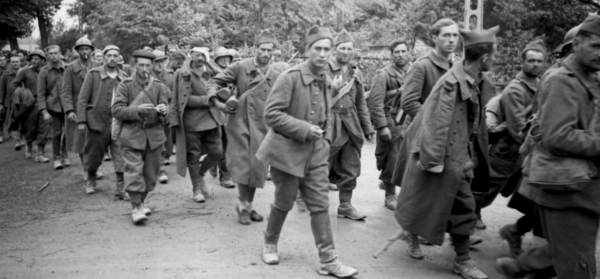 French prisoners of war in 1940