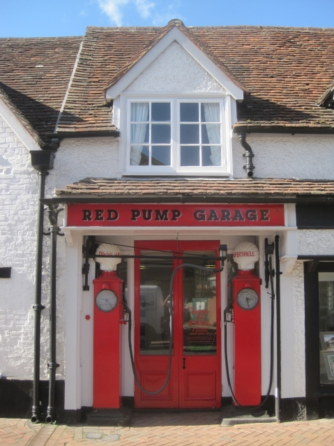 The petrol pumps in Great Missenden High Street