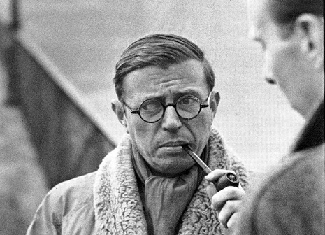 Jean-Paul Sartre by Henri Cartier-Bresson (1946)