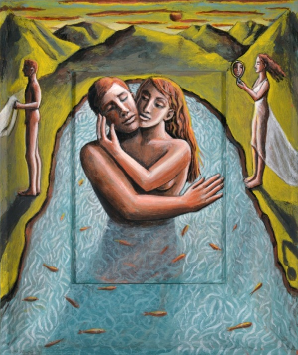 Salmacis and Hermaphroditus by PJ Crook