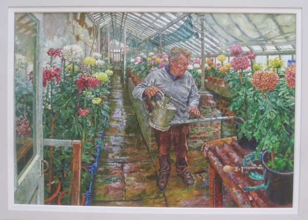 The nurseryman by Martin Bentham. Oil on linen (£4,850)