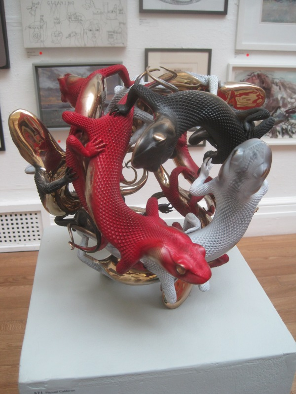 Alchemical fire by Manuel Calderon. Bronze casting (£35,600)