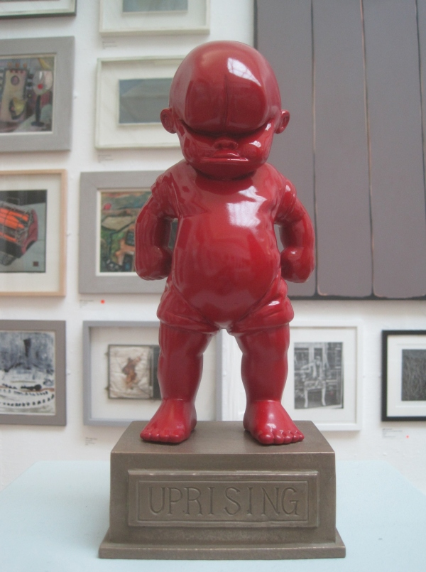 Uprising by Tom Astley. Clay, paint, jesmonite and bronze resin (£1,850)