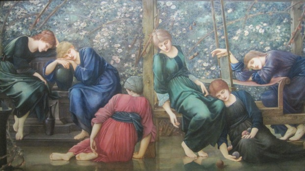 The Garden Court (1892) by Edward Burne-Jones