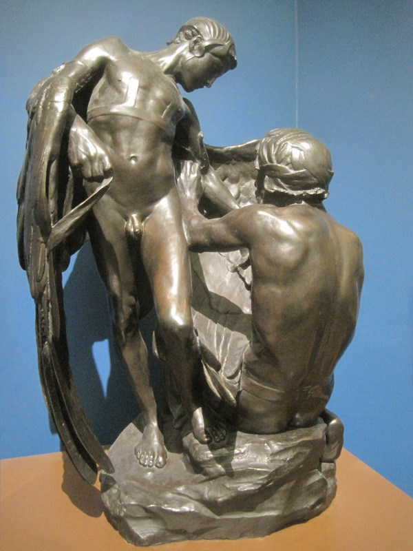Daedalus equipping Icarus (1895) by Francis Derwent Wood