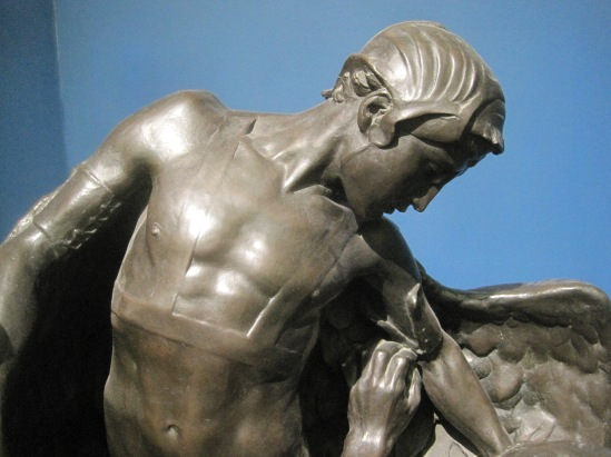 Detail of Daedalus equipping Icarus by Francis Derwent Wood