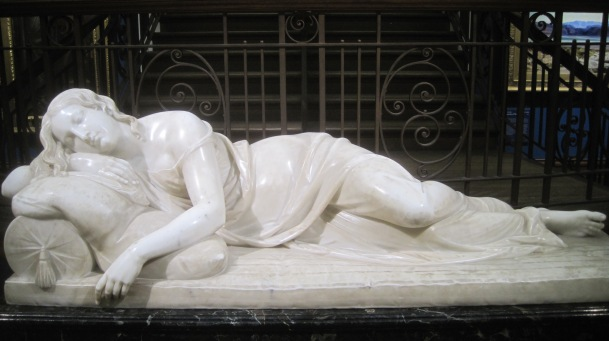 <em>Sleeping nymph</em>(1850) by E.H Bailey