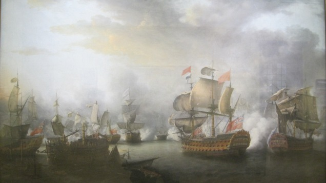 The Close of the Battle of the Saints (1782) by Nicholas Pocock