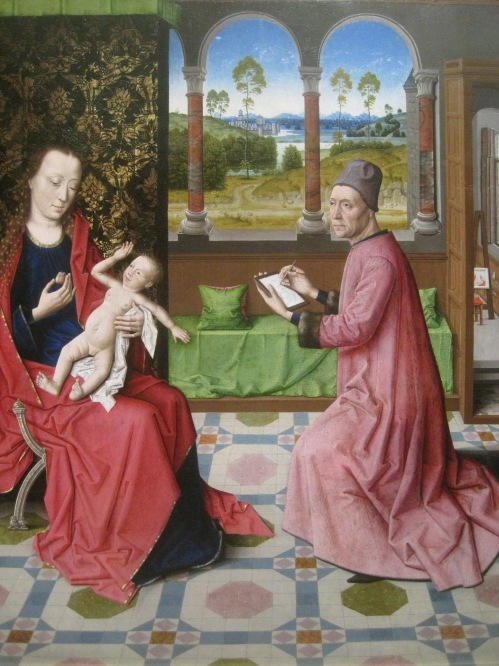 St Luke drawing the Virgin and Child (1440-75) from the workshop of Dieric Bouts
