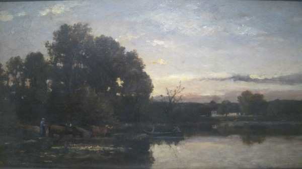 A River Landscape (1880) by Karl Daubigny
