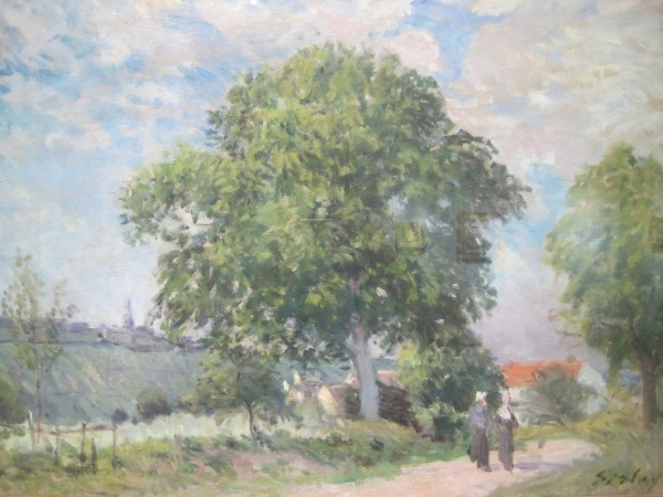 The Entrance to the village (1870s) by Alfred Sisley