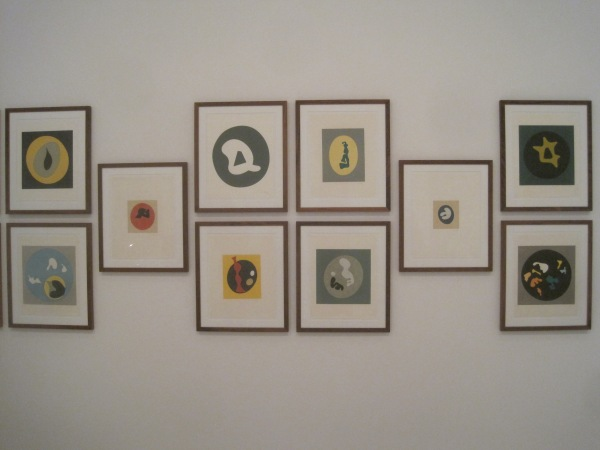 Coloured prints by Jean Arp