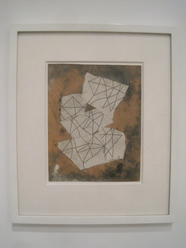 Collage of torn-up drawing by Sophie Taeuber (1939/47)