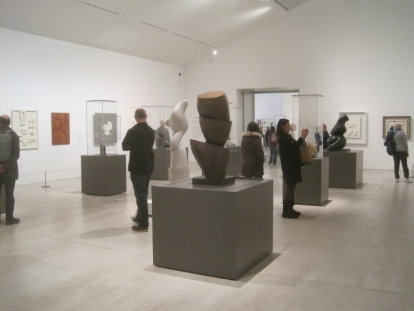 Installation view of Arp: The Poetry of Forms at Turner Contemporary