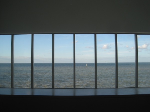 View from the first floor of Turner Contemporary over the sea
