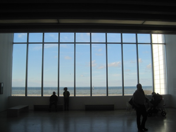 View out of Turner Contemporary over the sea
