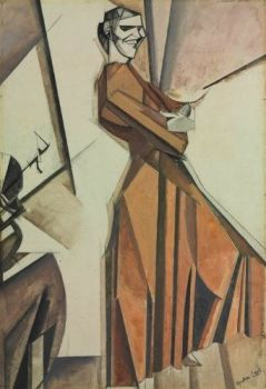 Portrait of Kate Lechmere by Wyndham Lewis