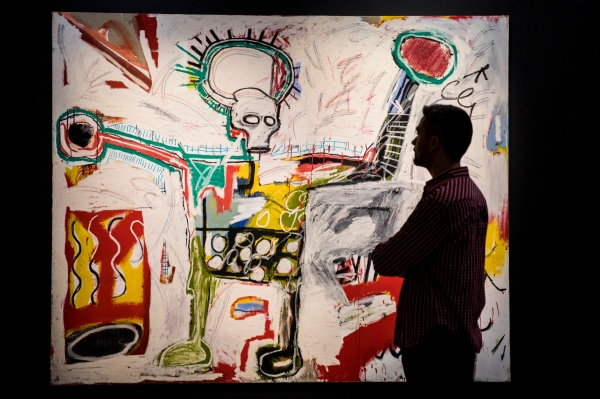 Untitled (1982) by Jean-Michel Basquiat. Photo © Tristan Fewings/Getty Images. Artwork Courtesy Museum Boijmans Van Beuningen, Rotterdam. © The Estate of Jean-Michel Basquiat. Licensed by Artestar, New York.