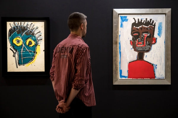 Untitled (1983) and Self Portrait (1984) by Jean-Michel Basquiat. Photo © Tristan Fewings / Getty Images. Artwork © The Estate of Jean-Michel Basquiat. Licensed by Artestar, New York