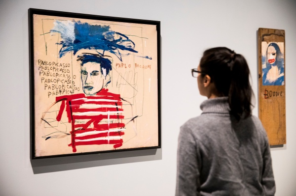 Untitled (Pablo Picasso), 1984 by Jean-Michel Basquiat © Tristan Fewings/Getty Images © The Estate of Jean-Michel Basquiat. Licensed by Artestar, New York