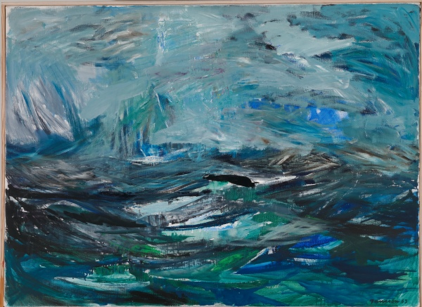 Abstract Sea (1963) by Tove Jansson. Photo: Finnish National Gallery/Hannu Aaltonen