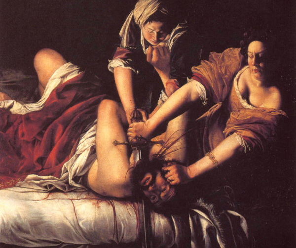 Judith beheading Holofernes (1602) by Artemisia Gentileschi