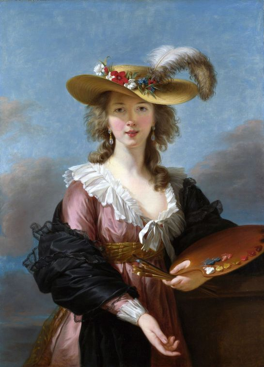 Self portrait in straw hat (1782) by Élisabeth Vigée Le Brun
