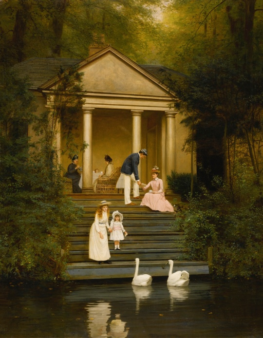 Feeding the swans (1889) by Edith Hayllar