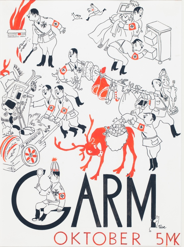 Cover illustration for Garm (1944) by Tove Jansson. Photo: Finnish National Gallery/Yehia Eweis