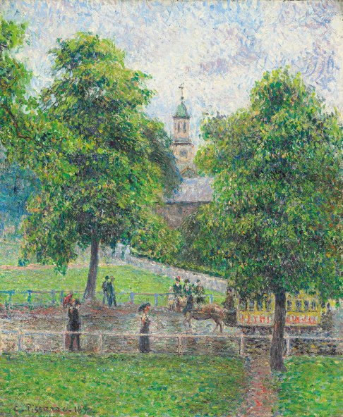 Saint Anne's Church at Kew (1892) by Camille Pissarro